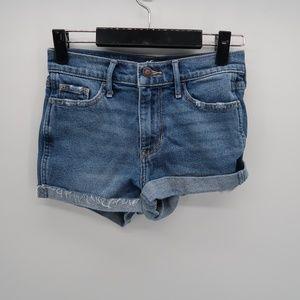 Hollister Denim Jean Shorts Size 0 High Rise